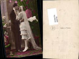 628779,Foto Ak Hochzeit Paar Schleier Mode Kuss Huwelyk Pub P. C Paris 2435 - Hochzeiten