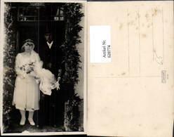 628774,Foto Ak Hochzeit Paar In Tür M. Schwibbogen - Hochzeiten