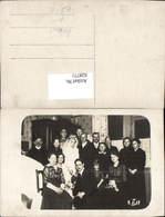628771,Foto Ak Gruppenbild Hochzeit Paar M. Familie - Hochzeiten