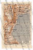 LAGO DI LUGANO LUGANO  - Mappa Cartina - Mappe