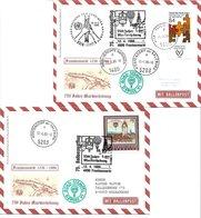 1658h: Zwei Ballonpost- Belege 1986 Für Heimatsammler 4890 Frankenmarkt 750 Jahre Markterhebung - Vöcklabruck
