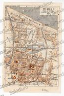 RIMINI  - Mappa Cartina - Mappe