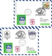 1658g: Zwei Ballonpost- Belege 1985 Für Heimatsammler 4962 Mining (1100 Jahre- Stadtjubiläum) - Braunau