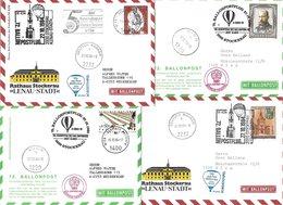 1658e: Vier Ballonpost- Belege 1984 Für Heimatsammler 2000 Stockerau (Lenau- Stadt) - Stockerau