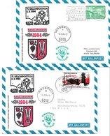 1658d: Zwei Ballonpost- Belege 1984 Für Heimatsammler 6170 Zirl (Markterhebung) - Zirl