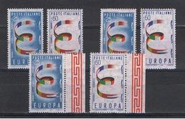 REPUBBLICA:  1957  EUROPA  CEPT  -  S. CPL. 2  VAL. N.  -  RIPETUTA  3  VOLTE  -  SASS. 817/18 - Europa-CEPT