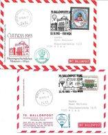 1658c: Zwei Ballonpost- Belege 198e Für Heimatsammler 2434 Götzendorf An Der Leitha, 2435 Ebergassing, Nationalfeiertag - Bruck An Der Leitha