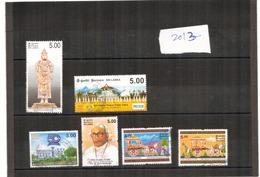 Sri Lanka - 2013 - 6 Different Commemorative Stamps - USED. ( Condition As Per  Scan ) - Sri Lanka (Ceylon) (1948-...)