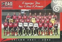 (GUINGAMP  )(22 COTES DU NORD  )( FOOTBALL )( E.A.G.) 2001.2002 AUTOGRAPHES - Guingamp