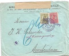 Rumänien XX001 / Braila Nach Amsterdam 1916, Doppelt Geprüft + Ungarischer Verschlussstreifen - Covers & Documents