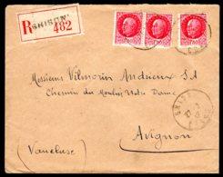 N° 516 X3 Sur Lettre Recommndé De GHISONI Du 27/02/42 - Marcophilie (Lettres)
