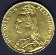 GRAN BRETAGNA 1891 1 Sterlina - Sovereign United Kingdom Victoria 1837 - 1816-1901 : Coniature XIX° S.