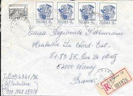 POLOGNE    -  KRAKOW    - 1920 -   LETTRE RECOMMANDEE POUR LA FRANCE - 1919-1939 Republic