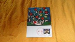 CARTE POSTALE FDC DE 1984./ LA CORBEILLE ROSE PAR ODETTE CALY...CACHET 06 GRASSE + TIMBRE - FDC