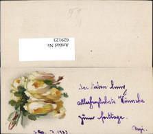 629123,Mini Künstler Ak Gelbe Rosen Blumen - Ansichtskarten