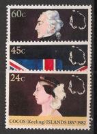 Cocos - 1982 - N°Yv. 81 à 83 - Annexion Britannique - Neuf Luxe ** / MNH / Postfrisch - Kokosinseln (Keeling Islands)