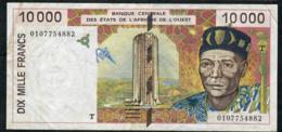 W.A.S. TOGO  P814Tj 10000 Or 10.000 FRANCS (20)01 2001  VF NO P.h. - West-Afrikaanse Staten