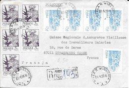POLOGNE    -  BIAKA  K WIELONIZ  - 1920 -   LETTRE RECOMMANDEE POUR LA FRANCE - CACHET RECETTE R A10 STRASBOURG ARRIVEE - 1919-1939 Republic