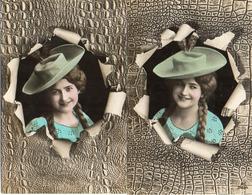 Femme Photo - 722 Chapeau Fond Reptile éclaté - Femmes
