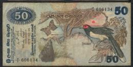 SRI LANKA P87 50 RUPEES  1979  FIRST BLOC #T/1  FINE NO P.h. - Sri Lanka
