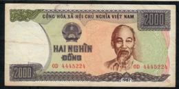 VIETNAM RARE P103 2000 DONG 1987  #OD   VF Nice ! - Viêt-Nam