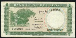 SIERRA LEONE P1a 1 LEONE  #A/6  1964 VF - Sierra Leone