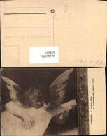 628867,Künstler Ak Un Angioletto Che Suona Il Liuto Engel Spielt Mandoline - Engel