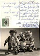 628861,Mecki 25 Igel Vermenschlicht Mann M. Kind Leiterwagen M. Blumen Freude Wollen - Mecki