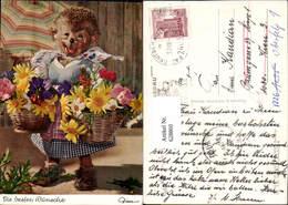 628860,Mecki 318 Igel Vermenschlicht Frau Korb Blumen Die Besten Wünsche - Mecki