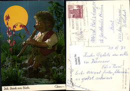 628859,Mecki 438 Igel Vermenschlicht Spielt Flöte Ich Denk A. Dich Mond - Mecki