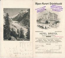 GRINDELWALD - Publicité Dépliante Hôtel Bristol - Suisse