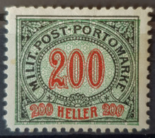 BOSNIA-HERCEGOVINA - MLH - ANK 13 - 200h Militär Post Portomarke - Bosnia Erzegovina