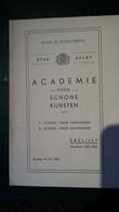 Aalst; Academie Voor Schone Kunsten - Erelijst 1951-1952 - Oud