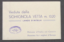 Veduta Dalla Sighignola Vetta M. 1320 - Lanzo D'Intelvi - Foto Panoramica - Libros, Revistas, Cómics