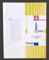 XII Mostra Di S. Giuseppe - Casale Monferrato - Programma Manifestazioni - 1958 - Libros, Revistas, Cómics