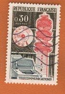 France 1964 - Oblitéré Used - Scanné Recto Verso - Y&T N° 1417 - Télécommunications - Gebraucht