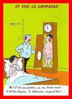 CPSM/gf HUMOUR.  Et Vive La Campagne, Le Facteur Dans La Pendule. Illustrateur Alexandre....J653 - Humour