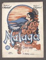 Musica Spartito - A. Vigevani - Malaga - Canzone One-step - Documentos Antiguos