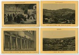 LOT 4 CP ISRAËL / PALESTINE Jérusalem Lieu Où Juifs Vont Pleurer / Mont Oliviers / Colonnes Eglise Bethléhem / Nazareth - Israel