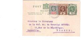 ENTIER POSTAL AVEC TIMBRES ILE MAURICE - Mauritius (1968-...)