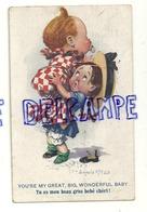 """Petite Fille Et Gros Bébé, Tétine """"Tu Est Mon Beau Gros Bébé Chéri"""". Signée Donald Mc Gill. 1919 - Mc Gill, Donald"""