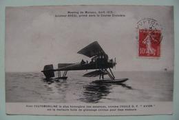 """CPA Meeting Aviation - Monaco Avril 1913 Aviateur Brégi - Pub Automobiline Et Huile D.F""""Avion""""   A Voir ! - Meetings"""