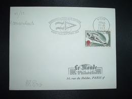 LETTRE TP SKI NAUTIQUE 0,30 OBL.MEC.31-8 1963 VICHY ALLIER (03) CHAMPIONNAT DU MONDE DE SKI NAUTIQUE VICHY 1 AU 8 SEPTEM - Ski Nautique