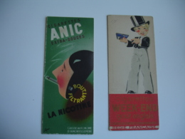 Lot De 2 Marque Pages Page Illustrateur  Rene Vincent Sapo Fabiano Cigarettes Cigarette Anic Casque D Or - Segnalibri