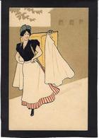 CPA Art Nouveau Femme Girl Woman Non Circulé Type Kirchner Mucha - Women