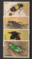 Zambia - 1986 - N°Yv. 340 à 343 - Faune / Insectes - Neuf Luxe ** / MNH / Postfrisch - Zambie (1965-...)