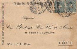 Ambulante Castellemmare - Napoli. 1900. Annullo Su Cartolina Postae Commerciale - 1900-44 Victor Emmanuel III