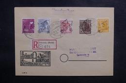 ALLEMAGNE - Enveloppe En Recommandé De Schwerin En 1948, Affranchissement Plaisant Surchargés - L 41862 - Zone Soviétique