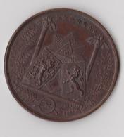 Médaille Maçonnique Belgique Grand , Grootoosten Van België, Verbroedering Met Grootoosten Nederland, 1861, TOP!!! - Otras Colecciones