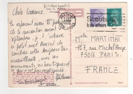 Timbres Yvert N° 1030 , 1046 ? Sur Cp , Carte , Postcard Du 11/08/1982 Pour La France Flamme Scouts - 1952-.... (Elizabeth II)